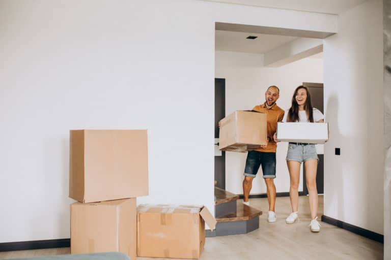 young family moving into their new house 1